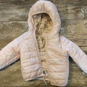 NF blush puffer jacket